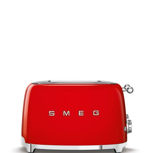 4x4 Slice Toaster, Red