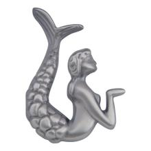 Mermaid Knob Left 2 1/2 Inch - Pewter