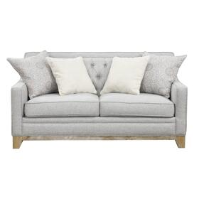 See Details - Jaizel Loveseat W/ 4 Pillows Grey