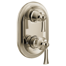Wynford polished nickel m-core 3-series with integrated transfer valve trim