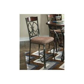 Glambrey Upholstered Barstool Brown