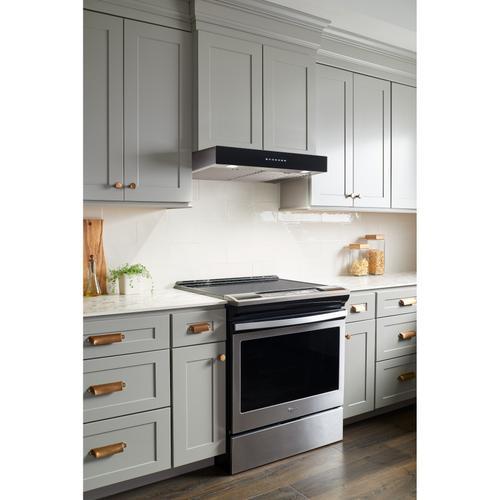 BEST Range Hoods - 30-inch Under-Cabinet Range Hood w/ PURLED™, ENERGY STAR, 550 Max Blower CFM, Black Glass (UCB3 Series)