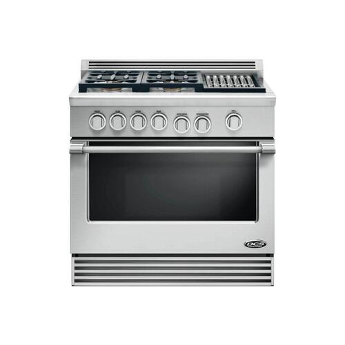 "DCS - 36"" Professional 4 Burner, Gas Range W/grill"