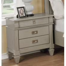 York 204 Antique Grey 3 Drawers Night Stand