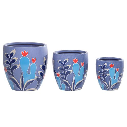 Corals Cachepot Set of 3