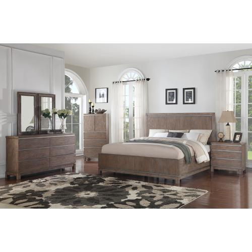 Emerald Home Vista Queen Headboard Weathered Gray B242-10hb