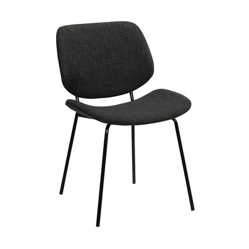 Armen Living - Quest Charcoal Modern Dining Accent Chair