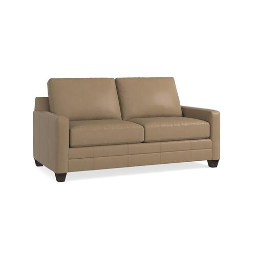Bassett Furniture - Carolina Leather Thin Track Arm Studio Sofa
