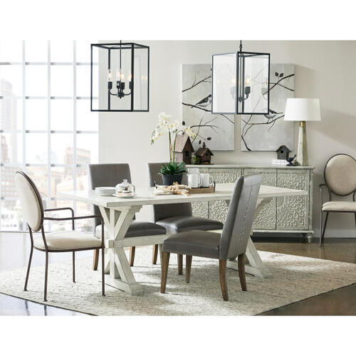 Accentrics Home - Oval Back Dining Chair with Arms