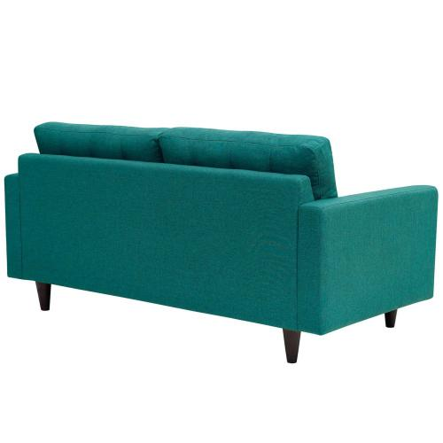 Modway - Empress Upholstered Fabric Loveseat in Teal