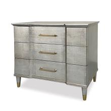 See Details - Valmont Nightstand - Satin Ant Silver