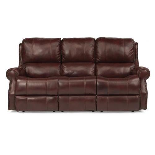 Product Image - Miles Leather Power Reclining Sofa