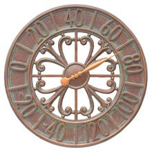 "Villanova 21"" Indoor Outdoor Wall Thermometer - Copper Vedigris"