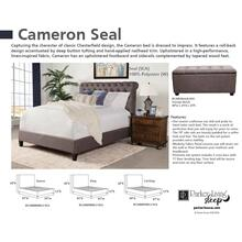 CAMERON - SEAL California King Footboard and Rails 6/0 (Grey)