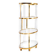 NK Donnovan Acrylic and Stainless Steel Bookshelf