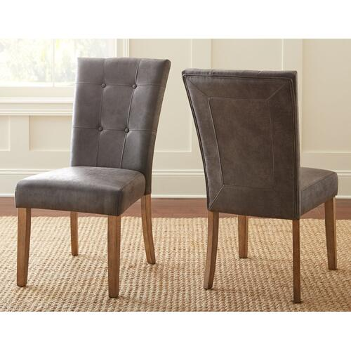 Debby Polyester Side Chair-Gray
