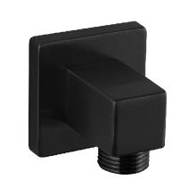 Shower Outlet Elbow SQU Black