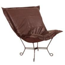 See Details - Scroll Puff Chair Avanti Pecan Titanium Frame