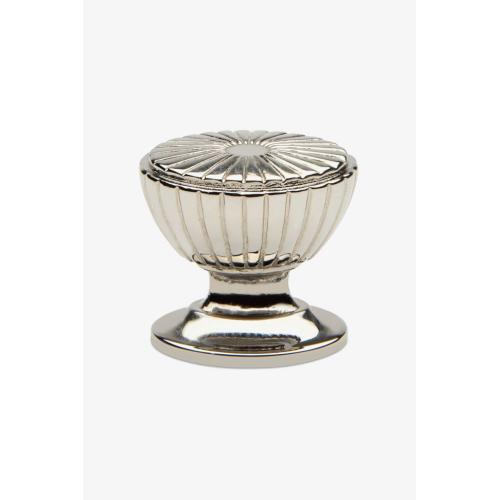 "Foro 1 1/4"" Fluted Knob in Nickel"
