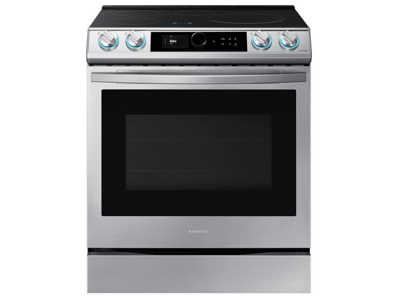 Samsung6.3 Cu. Ft. Smart Slide-In Induction Range With Smart Dial & Air Fry In Stainless Steel