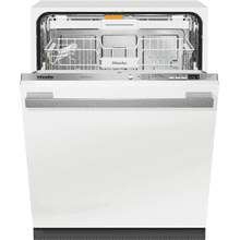 Fully-integrated, full-size dishwasher with hidden control panel, cutlery tray and custom panel and handle ready