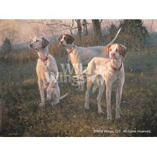 """View Product - Waiting to Run-English Pointers - Limited Edition Print 16.5""""H x 25""""W"""
