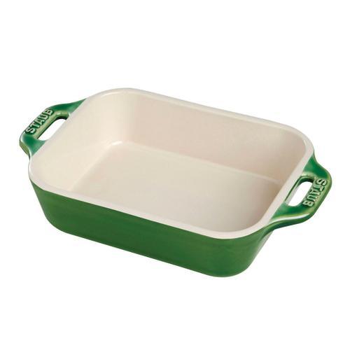 Staub Ceramique rectangular, Special shape bakeware, basil