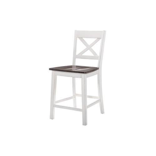 5057 A La Carte White 2-Pack Counter Height Barstools