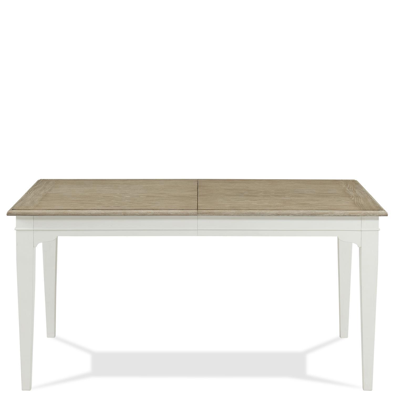 RiversideMyra - Rectangular Leg Dining Table - Natural/paperwhite Finish