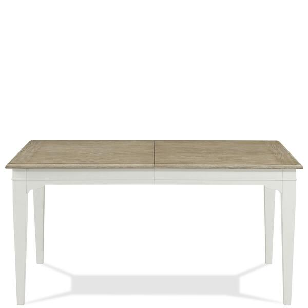 See Details - Myra - Rectangular Leg Dining Table - Natural/paperwhite Finish