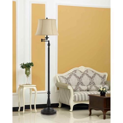 150W 3 Way Barnwellmetal /Resin Swing Arm Floor Lamp