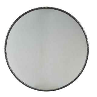 Metal Edge Round Mirror