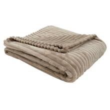 """See Details - THROW - 60"""" X 50"""" / BEIGE ULTRA SOFT RIBBED STYLE"""