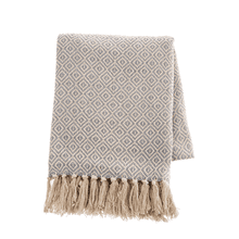 See Details - Grey & Natural Diamond Woven Throw