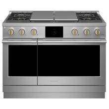 "Monogram 48"" Dual-Fuel Professional Range with 4 Burners, Grill, and Griddle (Natural Gas) - Coming Spring 2021"
