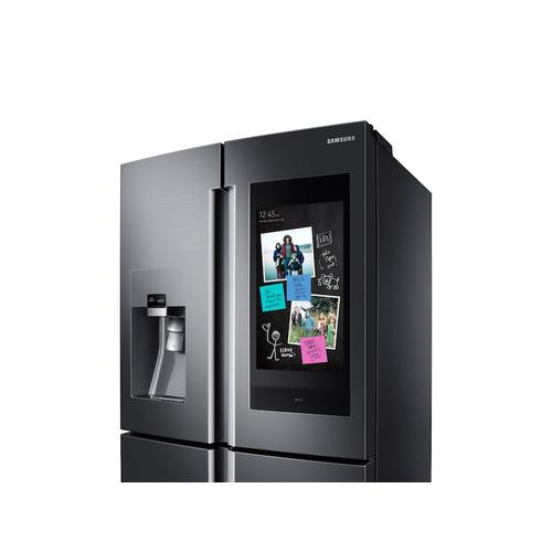 22 cu. ft. Family Hub™ Counter Depth 4-Door Flex™ Refrigerator in Black Stainless Steel