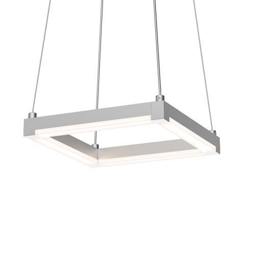"Sonneman - A Way of Light - Stix Square LED Pendant [Size=9"", Color/Finish=Bright Satin Aluminum]"