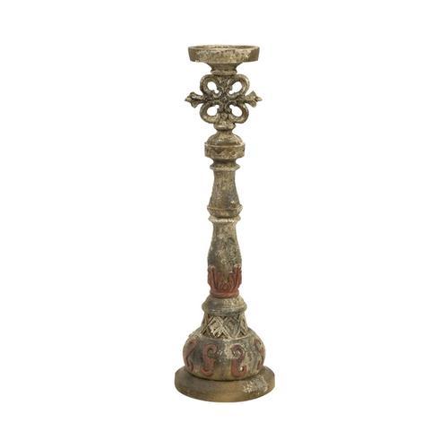 Rosado Medium Hand Carved Wood Candleholder