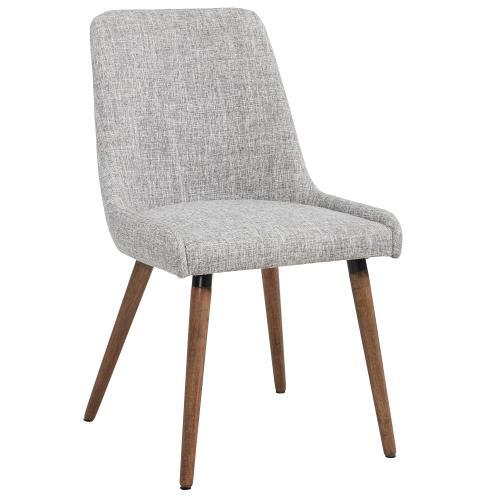 Mia Side Chair, set of 2 in Light Grey/Grey Legs