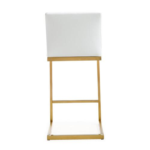 Tov Furniture - Parma White Gold Steel Counter Stool (Set of 2)