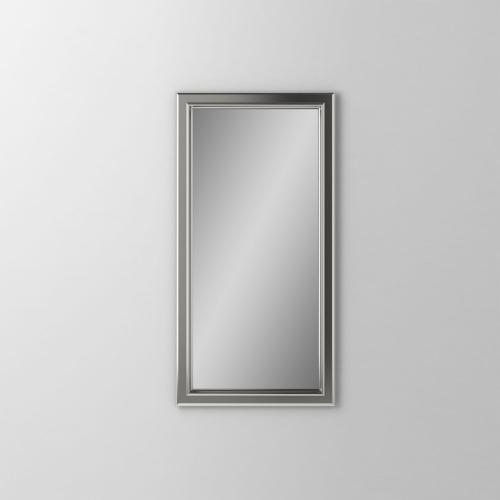 """Main Line 15-1/8"""" X 29-7/8"""" X 1-5/8"""" Bryn Mawr Framed Mirror In Satin Nickel"""