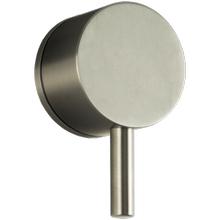 """Volume Control 1/2"""" Trim Kit, RND + Lever, Equal Plate Brushed Nickel"""