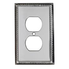 Single Duplex Arlington Switch Plate - Polished Chrome