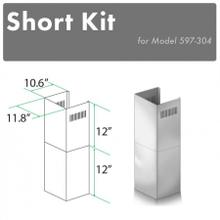 """See Details - ZLINE 2-12"""" Short Chimney Pieces for 7.7 ft. to 8 ft. Ceilings (SK-597-304)"""