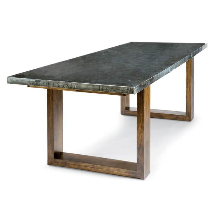See Details - Lfd - Zinc Dining Table With Plain Top