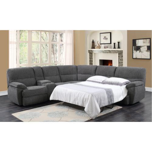 Emerald Home Aurora 3pc Sleeper Sectional Platinum U8050-13-27-46-13-k