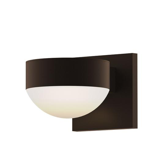 Sonneman - A Way of Light - REALS® Up/Down LED Sconce [Color/Finish=Textured Bronze, Lens Type=Plate Lens and Dome Lens]