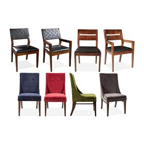 Mix-n-match Chairs - Woven Back Side Chair - Hazelnut Finish
