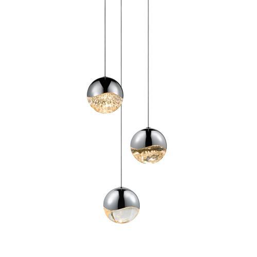 Sonneman - A Way of Light - Grapes® LED Pendant [Size=3-Light Large, Color/Finish=Polished Chrome, Shape=Round Canopy]
