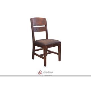 See Details - Chair with Solid wood back Faux leather seat